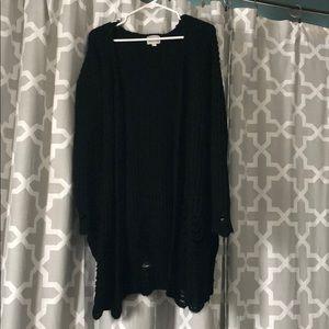 M/L black cardigan